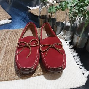 Ralph Lauren polo red suede loafer shoes